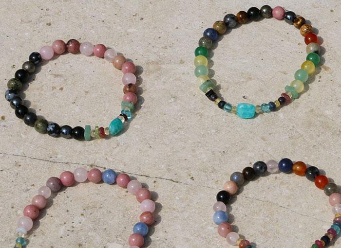 Zapestnice z dragimi in poldragimi kamni