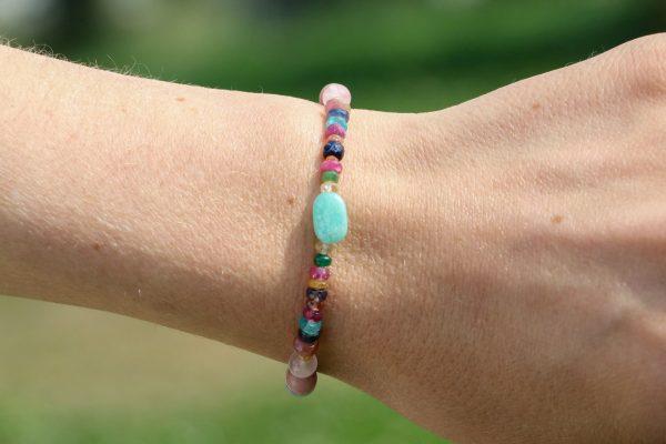 Bracelets with precious and semi-precious stones